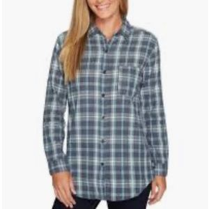 The North Face Blue Plaid Button Up Flannel Shirt